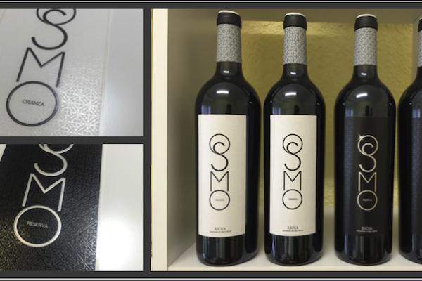 OSMO diseño vinos. Wine designs OSMO Crianza Reserva Rioja