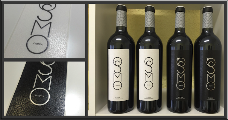 Wine designs OSMO Crianza Reserva Rioja and designed wine labels on detail